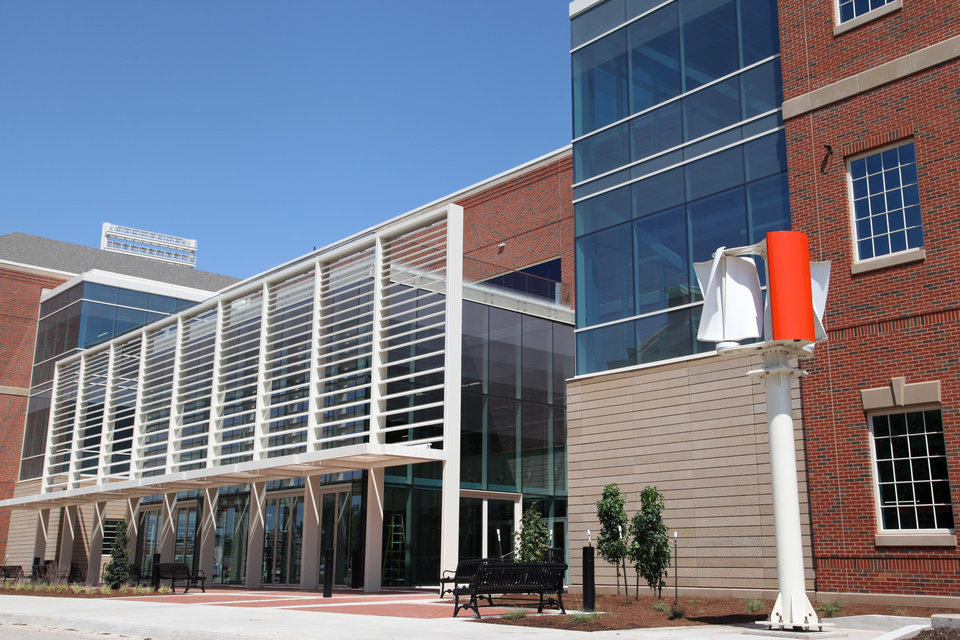 Photo -  Endeavor is the newest building on the Oklahoma State University campus. The facility's interdisciplinary, hands-on laboratories and technology are changing the way engineering students are being trained. [Photo Provided by OSU]