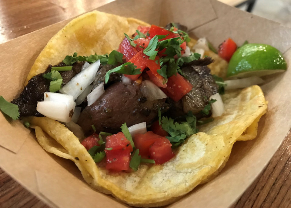 Photo - Tacos topped with sliced beef heart aren't on the menu at Taqueria El Camino, but chef Chris McKenna might add them as a special eventually.  [Dave Cathey/The Oklahoman]