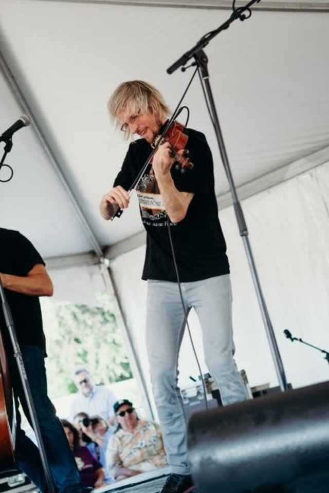 Photo -  Kyle Dillingham performs with his band Horseshoe Road at the 2018 Paseo Arts Festival. [Photo provided]