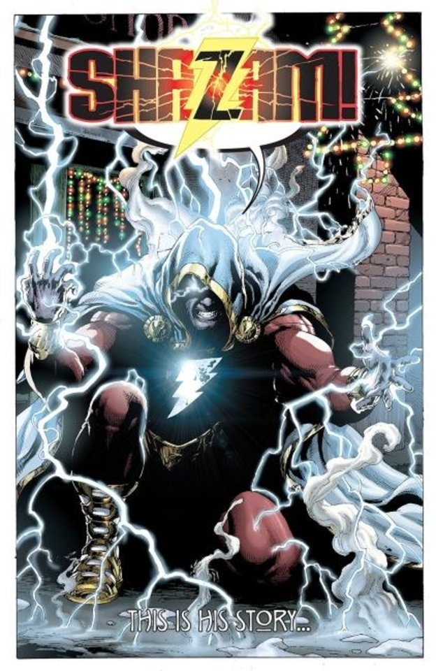 Photo -  Geoff Johns and Gary Frank updated the character of Shazam and officially changed his name in this 2012 series. [DC Comics]