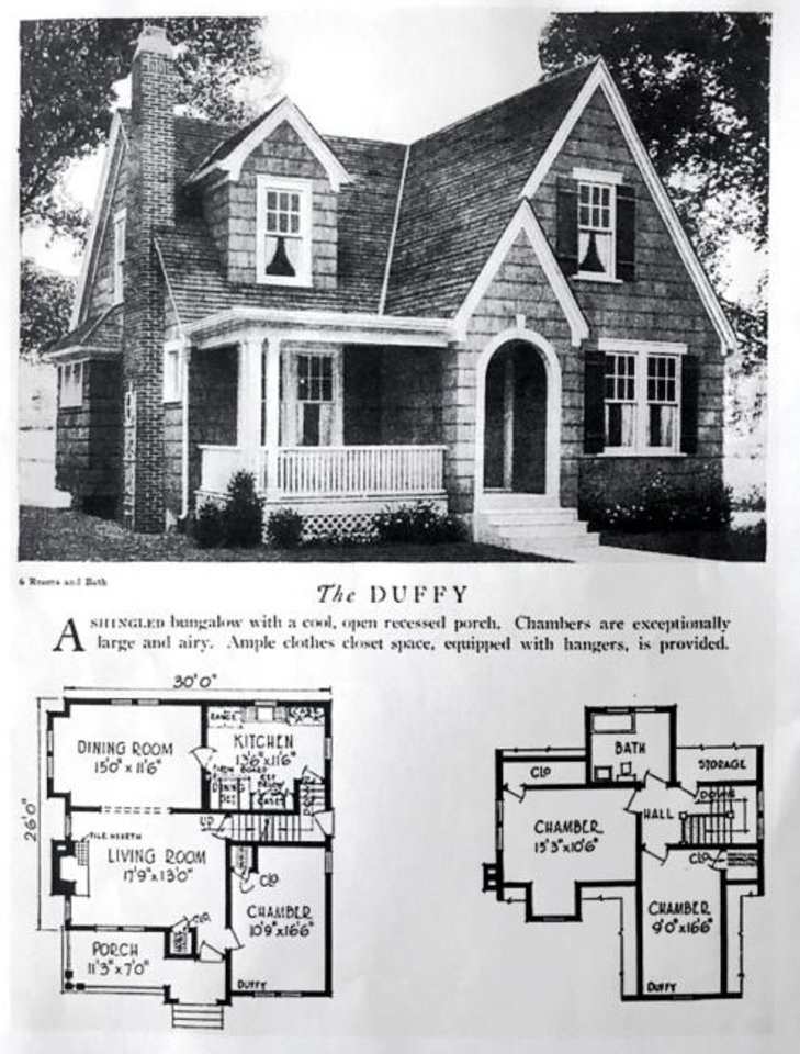 Photo -  Original plan for the Duffy, a Sears catalog kit house in the 1920s. [CHRIS LANDSBERGER/THE OKLAHOMAN]