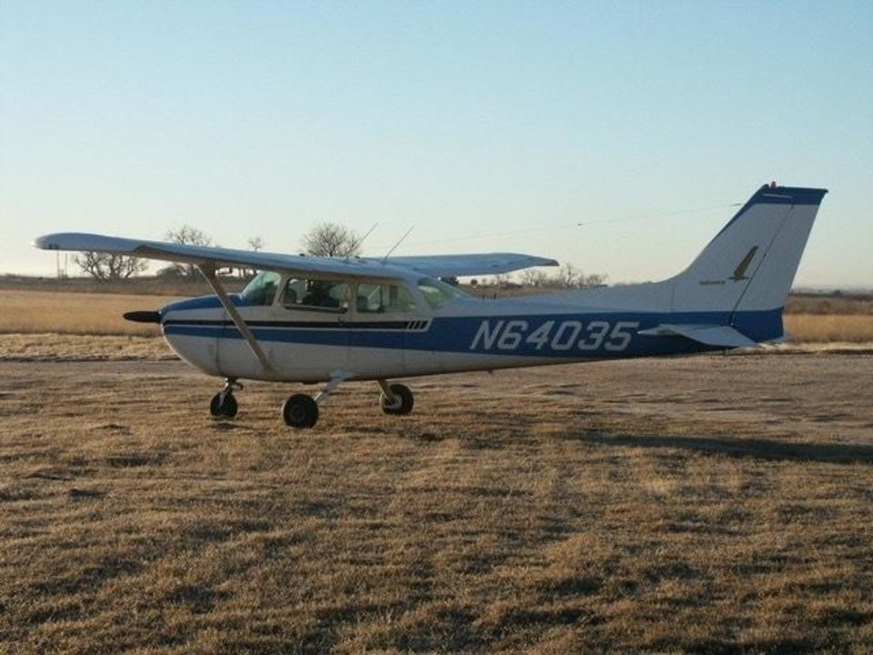 Photo -  Darwin Loomis and his single-prop Cessna, pictured here, got Corey Miller from Cleveland to Edmond in time for the Class 5A state championship on Dec. 7. [PHOTO PROVIDED]