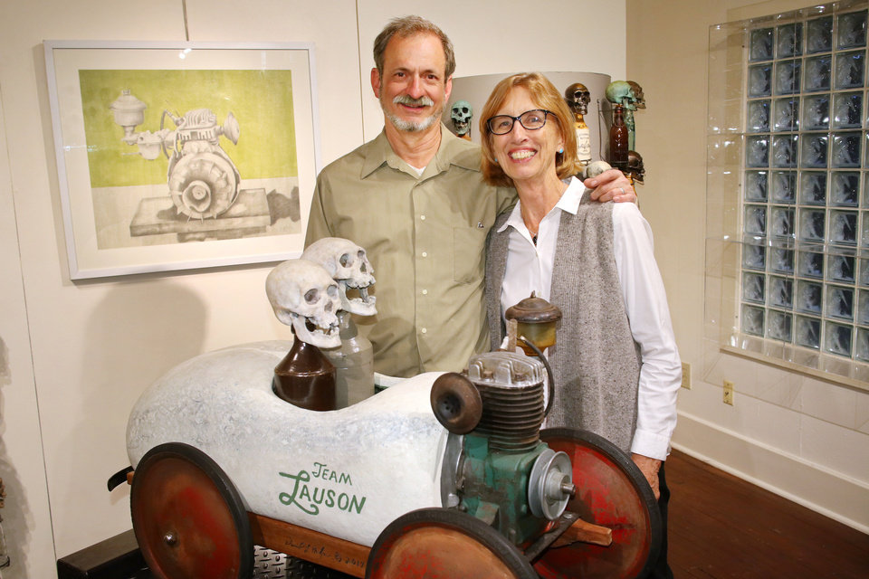 Photo - David and Patty Phelps during Paseo First Friday at JRB Art at the Elms Friday, November 3, 2017. Photo by Doug Hoke