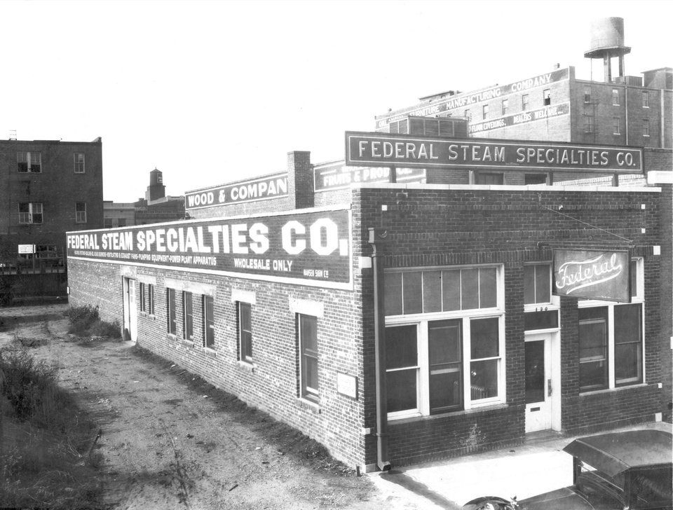 Photo -  The original Bricktown home of what is now Federal Corporation is shown in this early 1920s photo taken before the building was expanded with a second floor and an attached warehouse. [Photo provided by Federal Corporation]