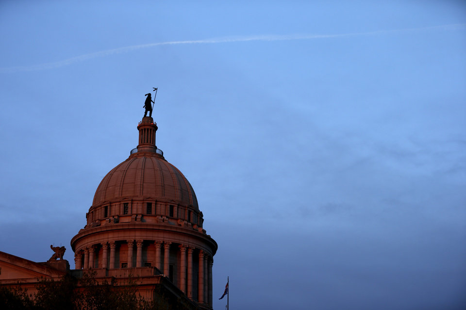 Photo -  The Oklahoma state Capitol in Oklahoma City. [File photo: Bryan Terry/ The Oklahoman]