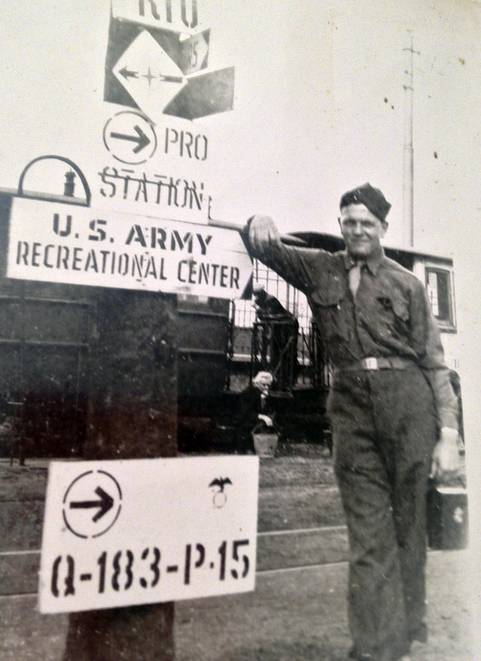 Photo -  Charlie Stites served in the Army during World War II. [Photo provided]