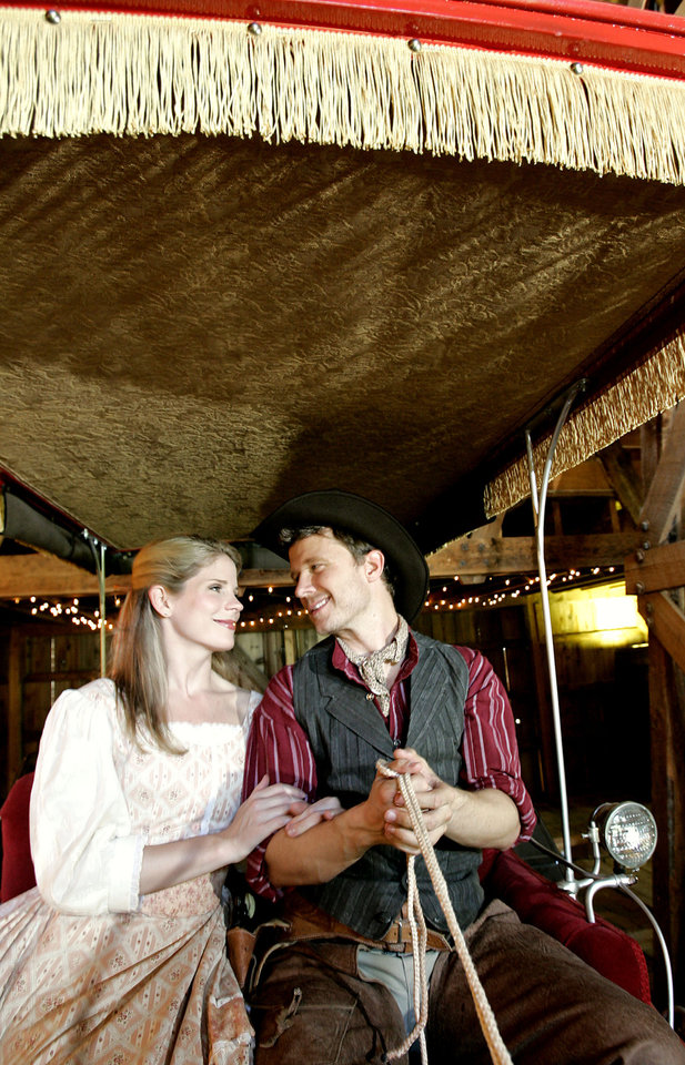 Photo -  Tony Award-winning actress Kelli O'Hara, an Elk City native, starred opposite Will Chase, right, in a 2007 production of the Rogers and Hammerstein musical