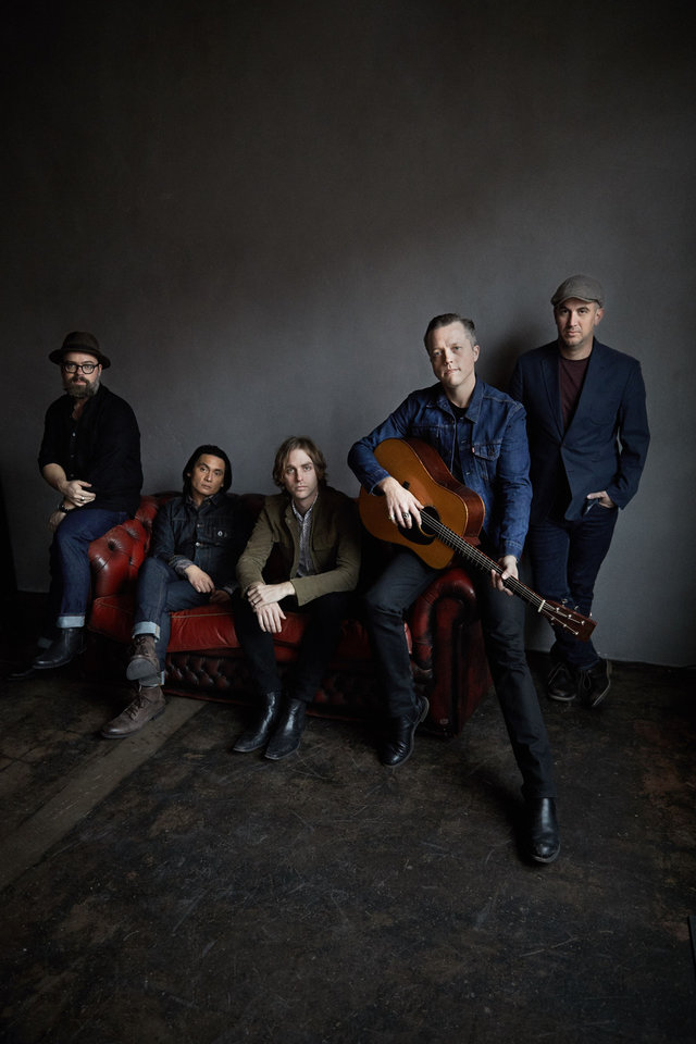 Photo -  Jason Isbell and The 400 Unit recorded its latest effort at Nashville's RCA Studio A, and it was produced by Grammy Award-winner Dave Cobb. The band includes Derry deBorja (keyboards), Chad Gamble (drums), Jimbo Hart (bass), Amanda Shires (fiddle) and Sadler Vaden (guitar). [Photo provided by Danny Clinch]