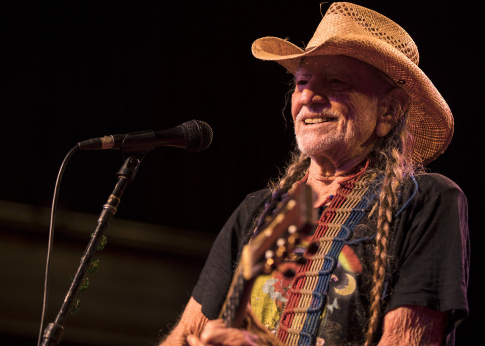 Photo - Willie Nelson performing live at The Jones Assembly on Nov. 22, 2017. [Photo by Nathan Poppe, The Oklahoman]