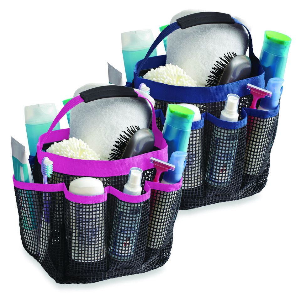 Photo - These mesh shower totes make it easy to keep all your essentials together. This tote sold at Bed, Bath & Beyond. Photo provided.