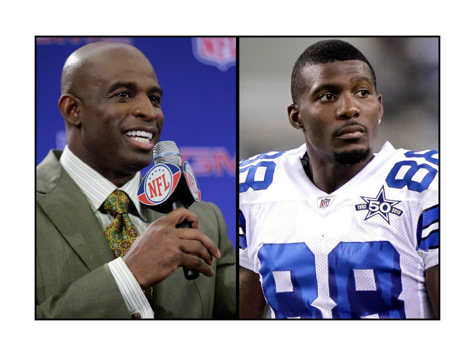 Photo -  The relationship between former Dallas Cowboys star Deion Sanders, left, and current Cowboy receiver Dez Bryant, right, is over, according to Sanders. Based on its impact on Bryant, it would have been better had it never begun.