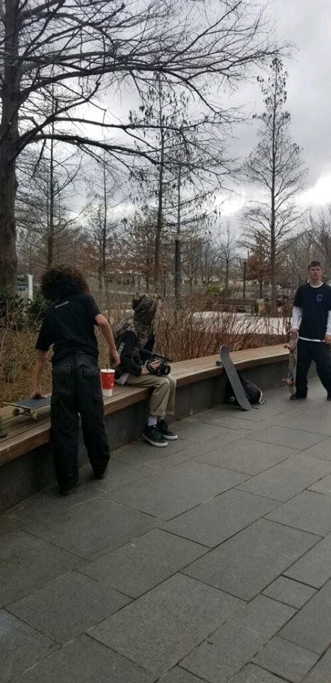 Photo - Oklahoma City police are searching for several skateboarders accused of causing nearly $2,000 in damage to a fountain at the Myriad Botanical Gardens in late January. [Photo provided]