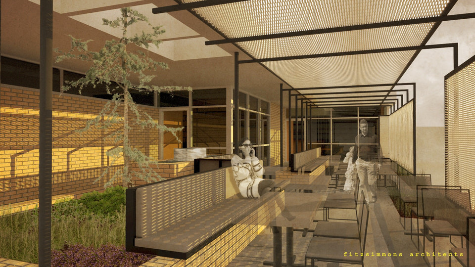 Photo -  The patio for the future home of Ludivine is shown in this image. [Rendering provided by Fitzsimmons Architects]