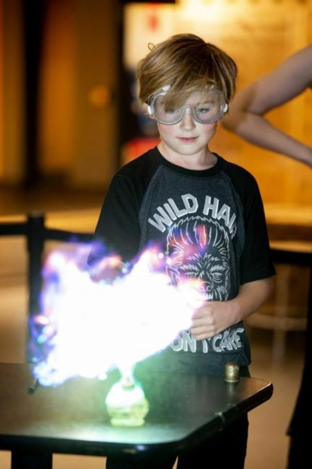 Photo -  Children from preschool through sixth grade can explore wizardry, the science of sport and unusual plants and animals during Science Museum Oklahoma's fall break camps. [PHOTO PROVIDED]