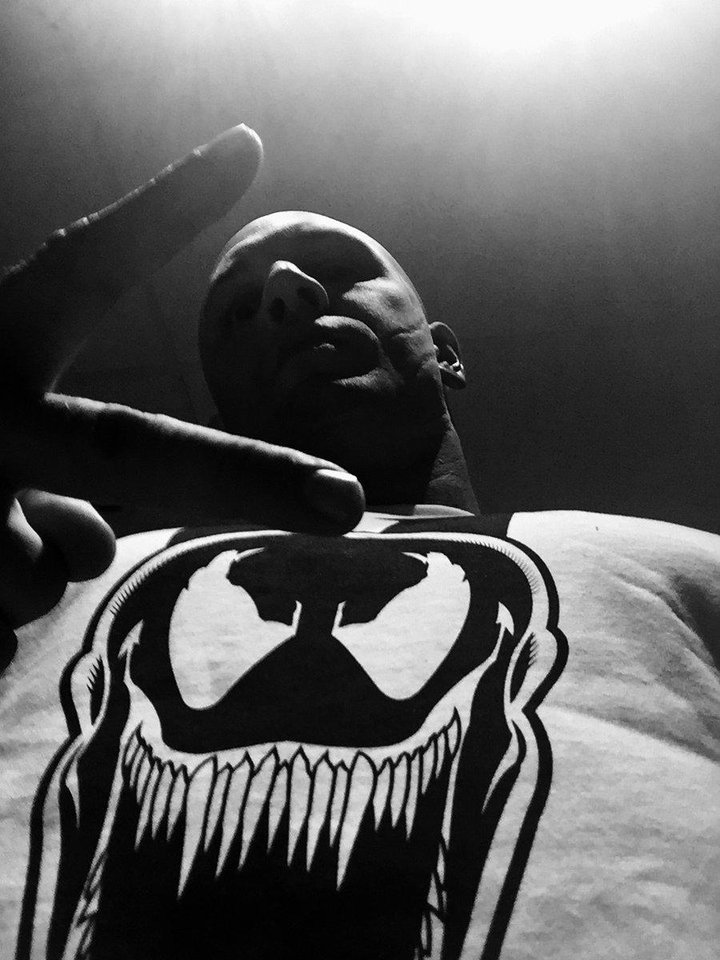 Photo -  Tom Hardy, seen here in a Venom T-shirt in a photo released by Sony, is set to play Eddie Brock/Venom in a film set for October 2018 release. [Sony]