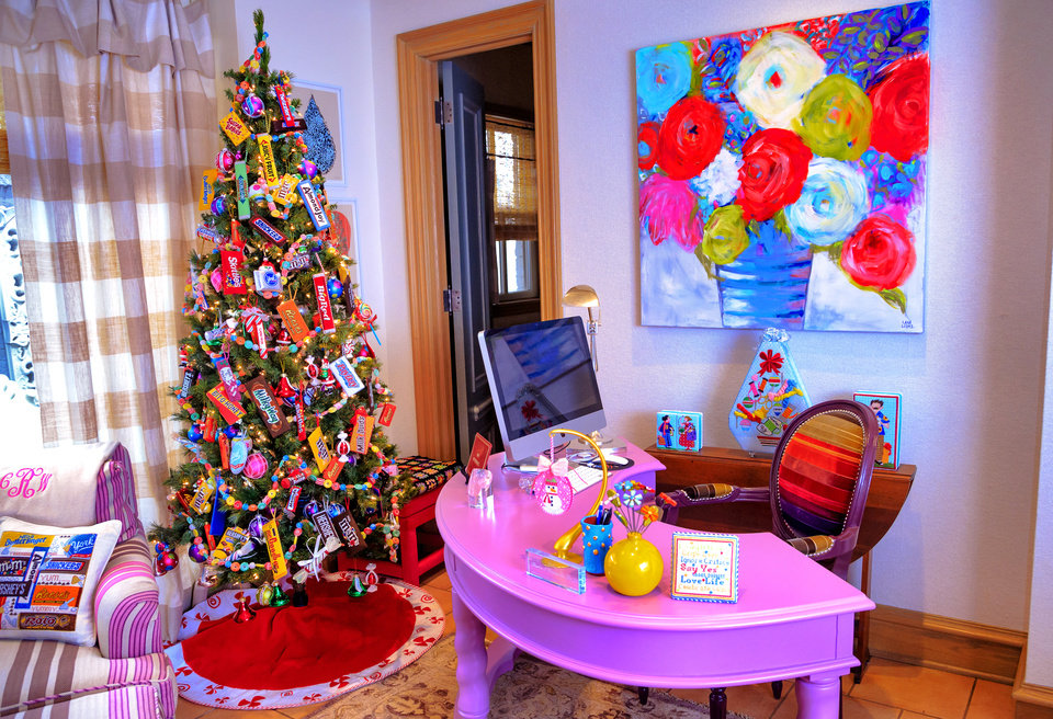 "Photo -   The ""Candy"" tree  [PHOTO BY CHRIS LANDSBERGER, THE OKLAHOMAN]"