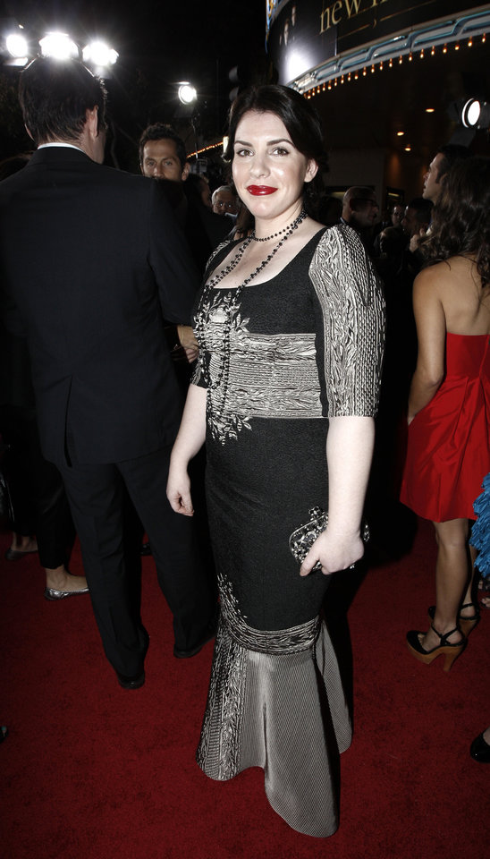 Photo - Author Stephenie Meyer arrives at The Twilight Saga: New Moon premiere in Westwood, Calif. Monday, Nov. 16, 2009.  (AP Photo/Matt Sayles) ORG XMIT: CAGS165