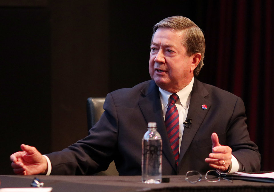 Photo - Drew Edmondson during The Oklahoman's Gubernatorial Forum at the Oklahoma City Museum of Art, Monday, September, 24, 2018.  Photo by Doug Hoke, The Oklahoman