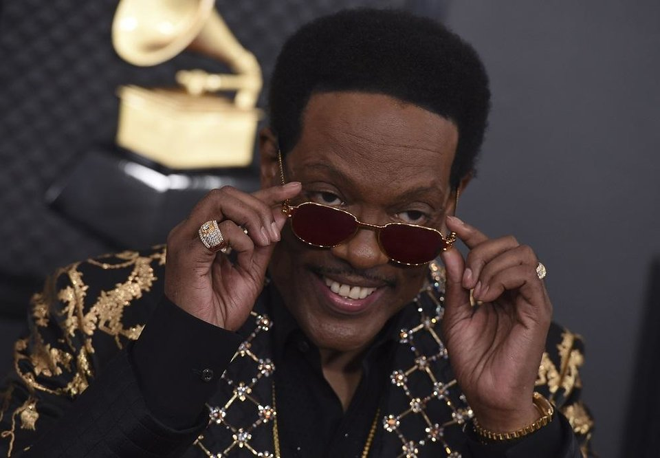 Photo - Charlie Wilson arrives at the 62nd annual Grammy Awards at the Staples Center on Sunday, Jan. 26, 2020, in Los Angeles. [Photo by Jordan Strauss/Invision/AP]