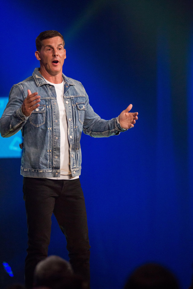 Photo -  The Rev. Craig Groeschel speaks to churchgoers at Life.Church, where he is co-founder and senior pastor. [Photo provided]