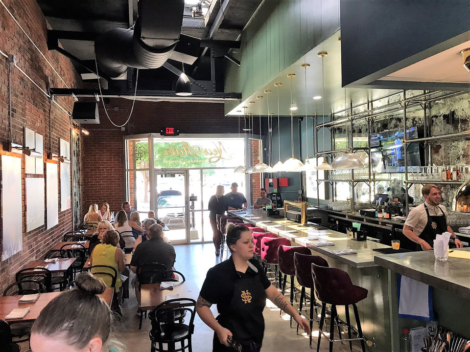 Photo - A look inside New State Burgers, opening this week in Oklahoma City's Plaza District. [Dave Cathey/The Oklahoman]