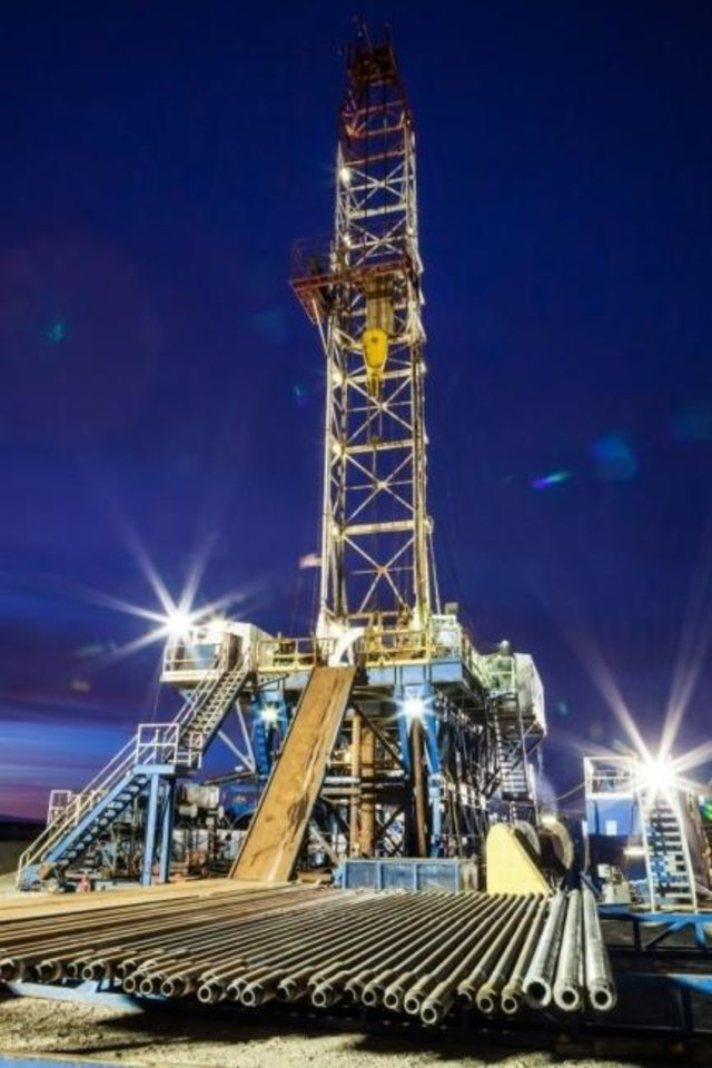 Photo -  A rig drills a geothermal well at the U.S. Department of Energy's Frontier Observatory for Research in Geothermal Energy (FORGE) in Utah. The observatory is a dedicated site where scientists and engineers develop, test, and accelerate breakthroughs in enhanced geothermal system technologies and techniques. [PROVIDED]