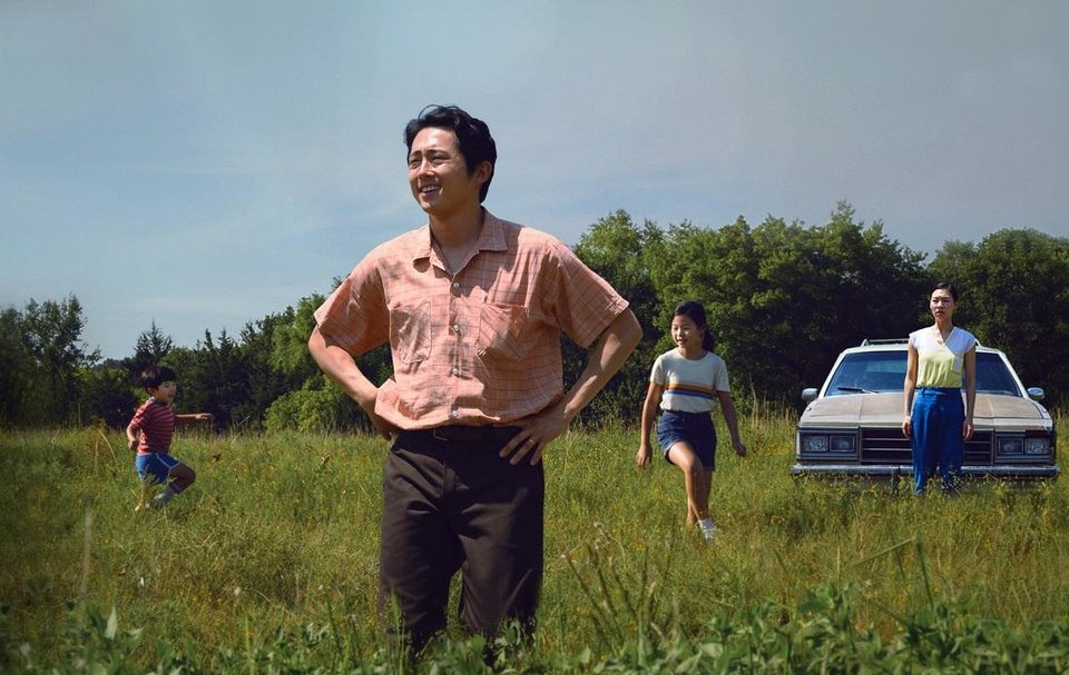 Photo - From left, Alan S. Kim, Steven Yeun, Noel Cho and Yeri Han star in Lee Isaac Chung's
