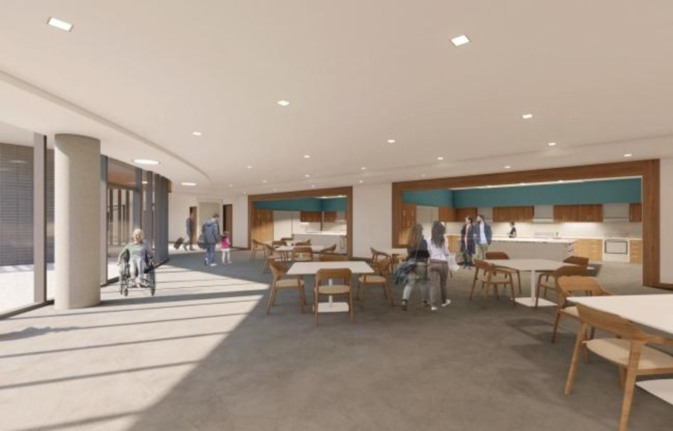 Photo -  Dining areas with kitchens for guests will be a part of the future Chad Richison Hope Lodge being built by the American Cancer Society. [MILES ASSOCIATES]