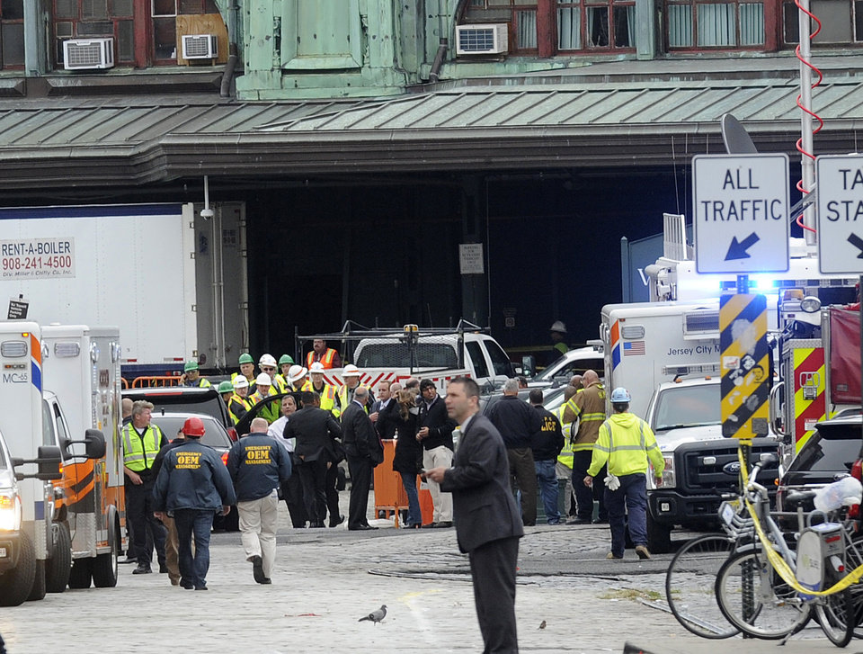 Chaos in Hoboken as commuter train crashes into station