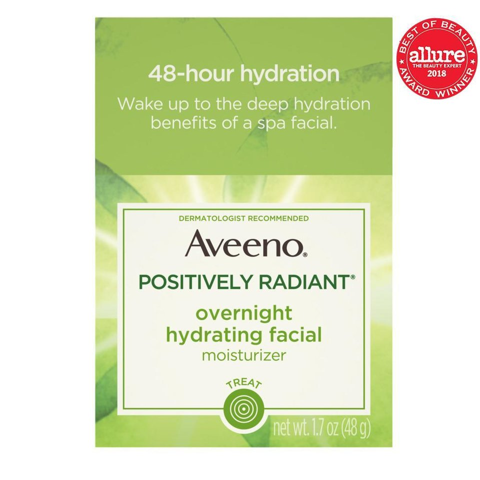 Photo - Aveeno Positively Radiant Overnight Hydrating Facial Moisturizer is one of Jennifer Aniston's favorite Aveeno products.