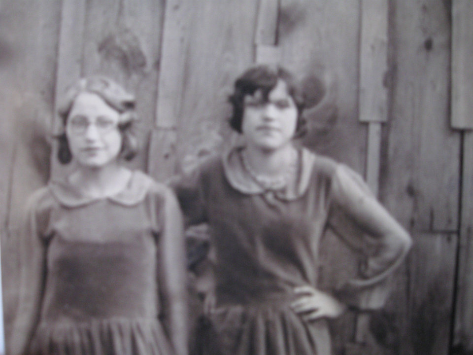 Photo - This photograph was taken of Ruby Woods, left, and Ruth Martin when they were young teens in the 1920s. PHOTO PROVIDED     ORG XMIT: 0812081610572808  Provided