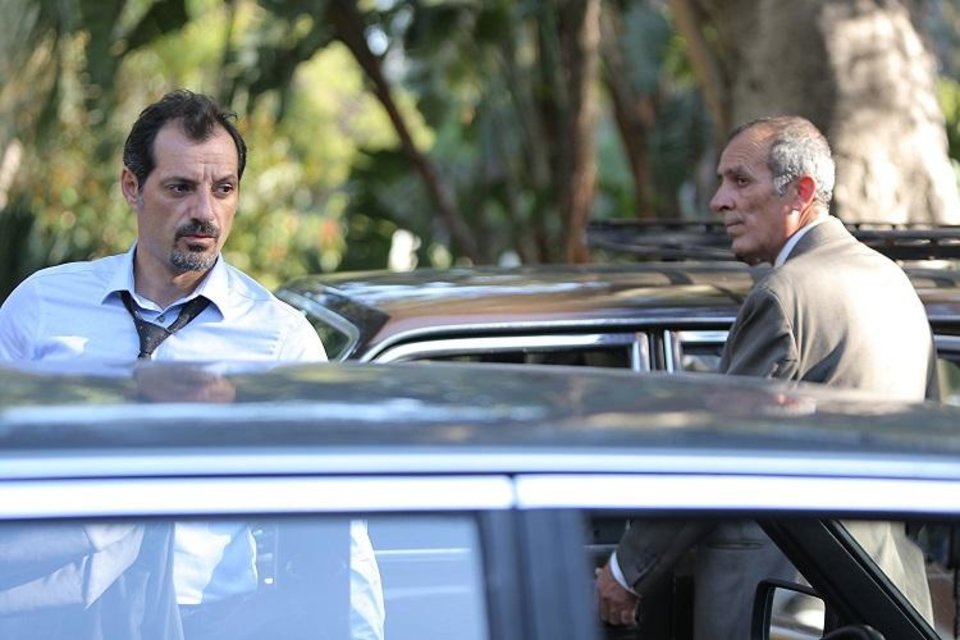 Photo - Adel Karam, left, Kamel El Basha appear in a scene from the Oscar-nominated film