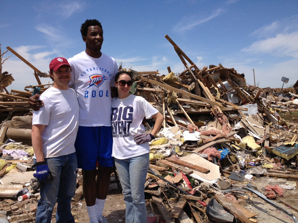 Photo - Roger & Kalissa Graham with Hasheem Thabeet  220 SW 146 OKC
