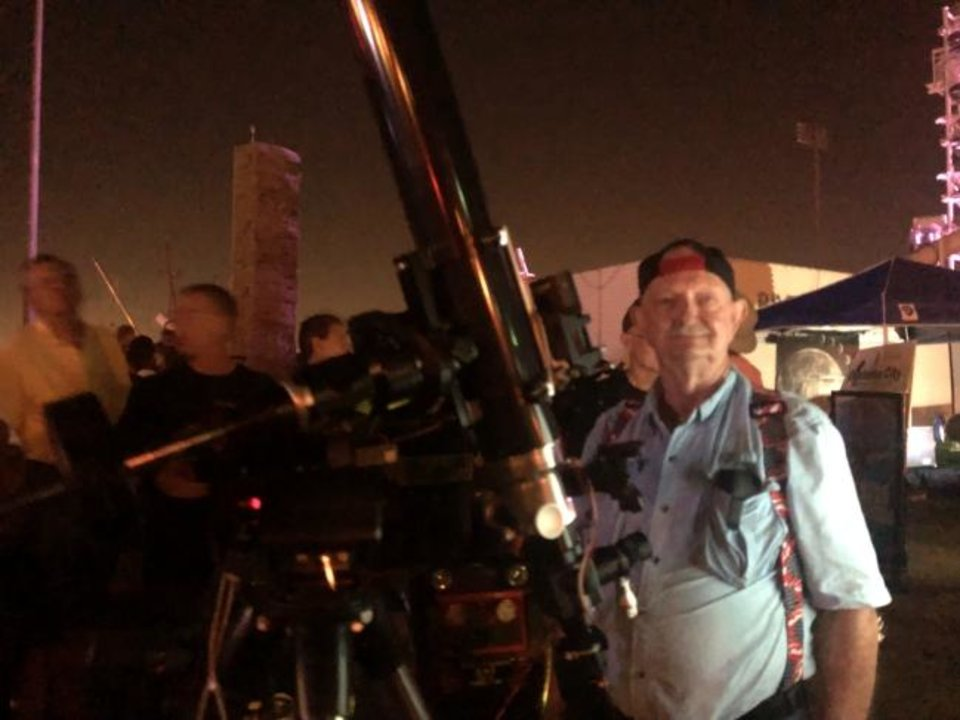 Photo -  Oklahoma City Astronomy Club member Gerald Taylor recalls watching the Apollo 11 astronauts set foot on the moon in 1969. [ROBERT MEDLEY/THE OKlAHOMAN]