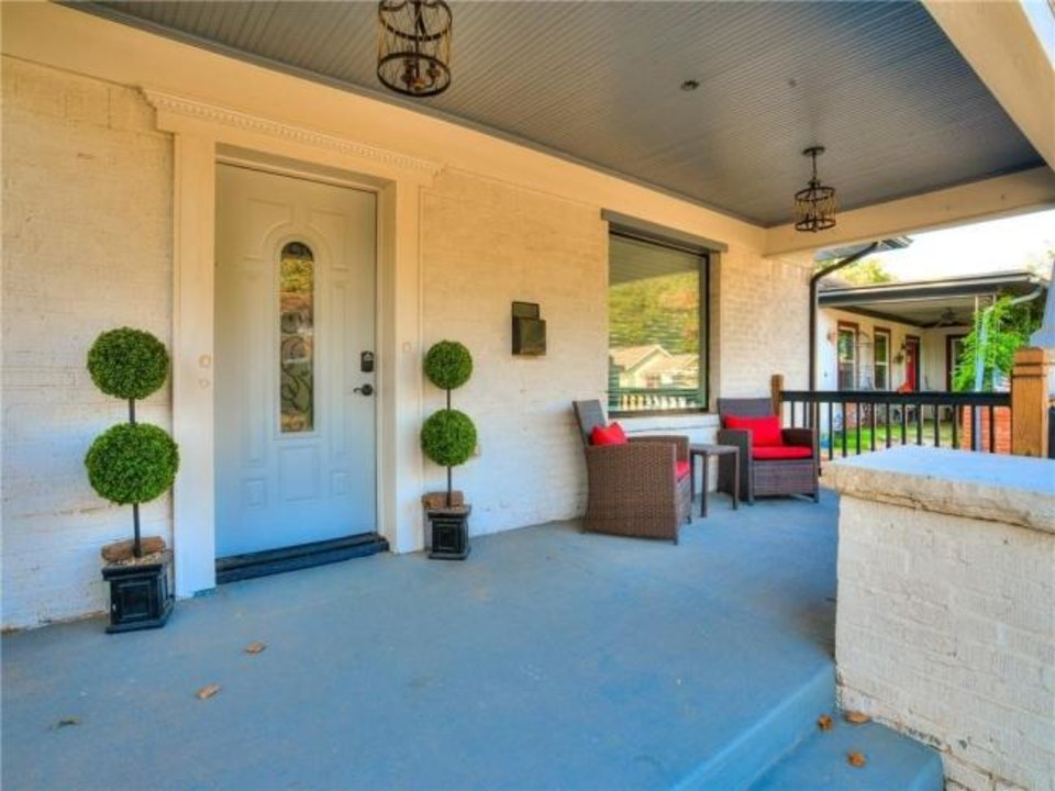 Photo -  Front porch at 1204 NW 44, the Listing of the Week. [PHOTO PROVIDED]