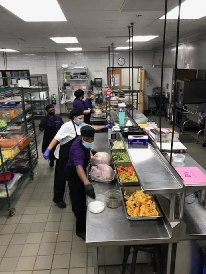 Photo -  Students and faculty from the Francis Tuttle School of Culinary Arts helped keep alive the Turkey Tango campaign in support of The Homeless Alliance. [provided]