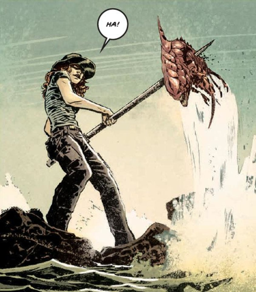 Photo - Art from Invisible Republic #1, with colors by Jordan Boyd.