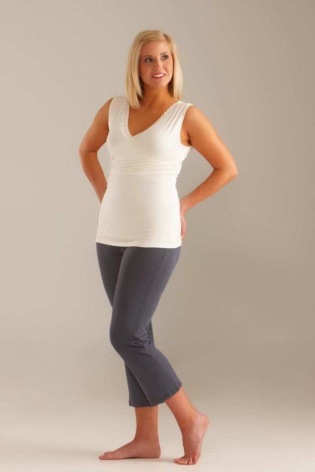Photo - Belle camisole from the Lady Lait line of maternity and postpartum wear created by Sapulpa resident Sarah Shibley is sold online at Ladylait.com. Photo provided.