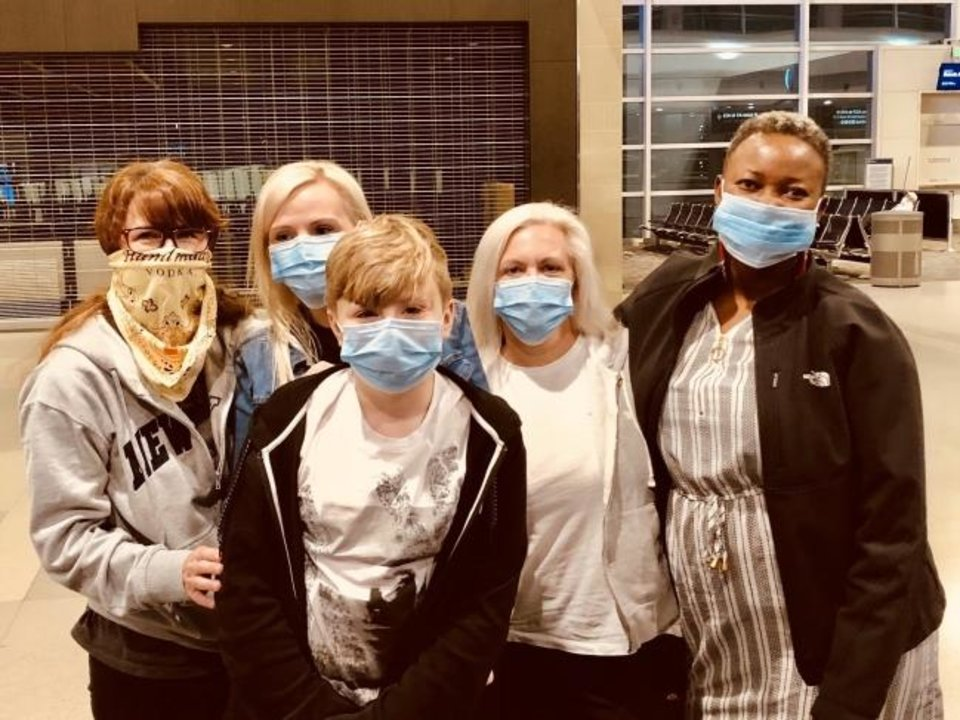 Photo -  Abbie Manske, Amanda English, Erik Bargewell, Kristin Ceder and Beatrice Williamson have returned from a harrowing trip to Kenya made complicated by the spread of COVID-19. [Provided]