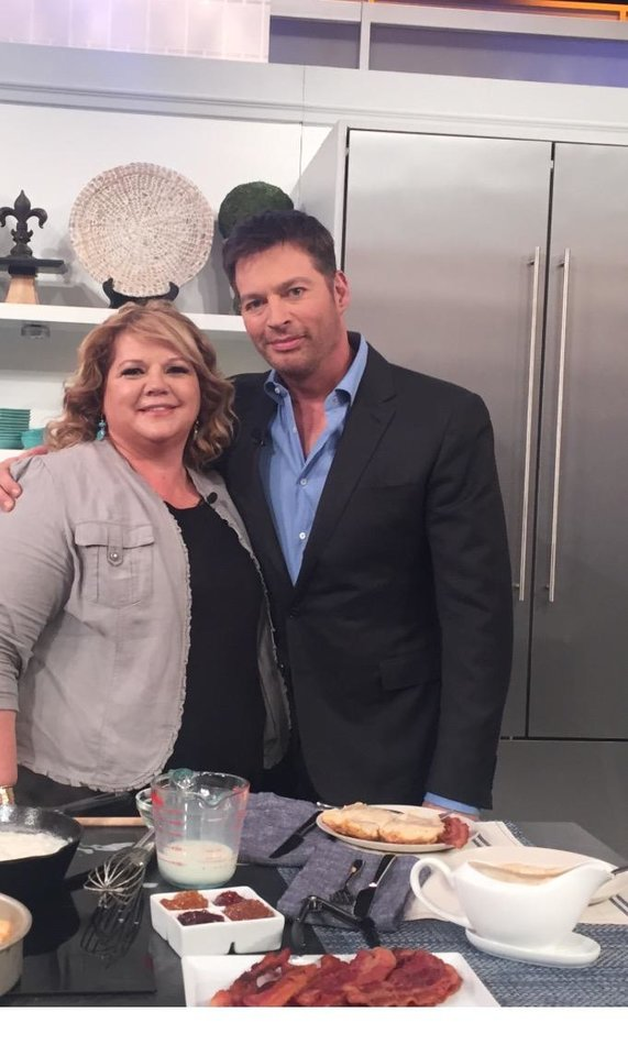 Photo - Lynnette Wininger Butler with Harry Connick Jr. [Photo provided by Lynnette Wininger Butler]