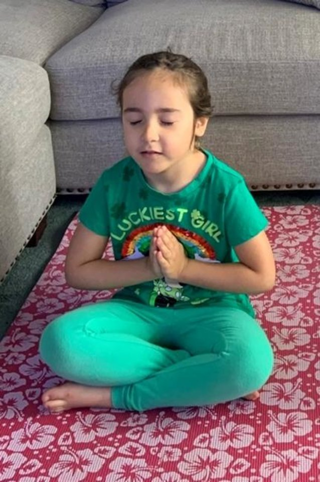 Photo -  Charlotte Lankard's friend Tina, who lives in California, sent pics of a granddaughter on a yoga mat. Their mom discovered Cosmic Kids Yoga on YouTube. [Photo provided]