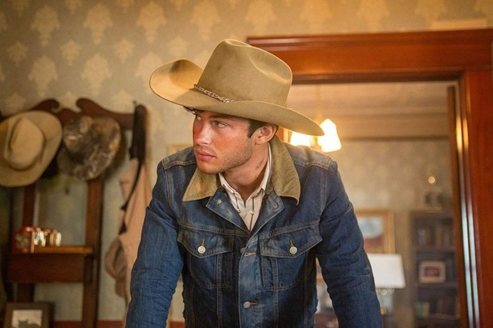 Photo - Graham Phillips appears in a scene from the topical modern-day Western