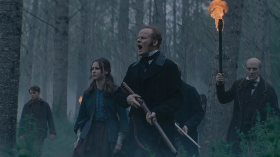 Photo -  Alistair Petrie, Amelia Crouch and Simon Kunz appear in the film