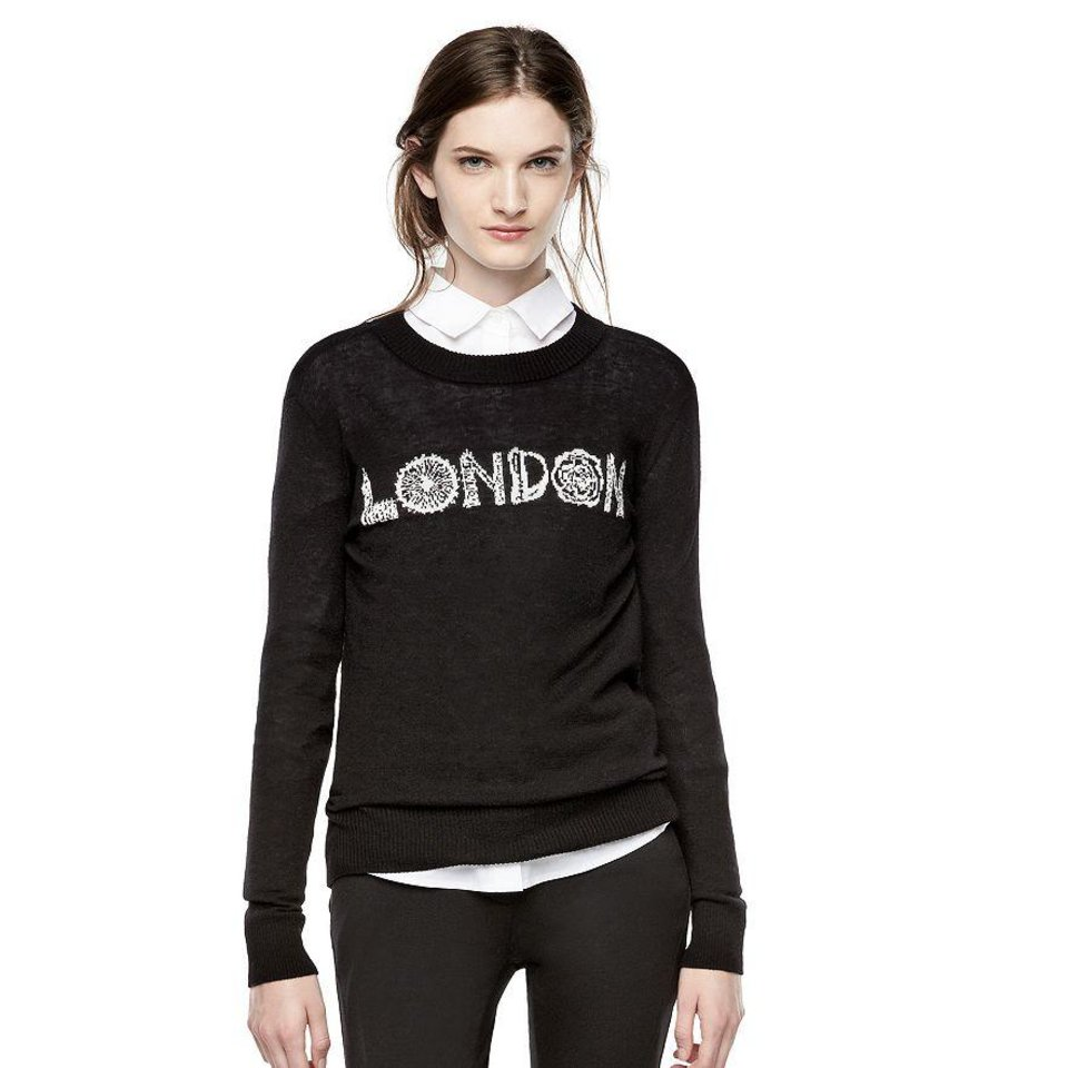 Photo - Thakoon London sweater, $60, at Kohl's. The Thakoon for DesigNation collection will be in stores Sept. 10. (Kohl's)