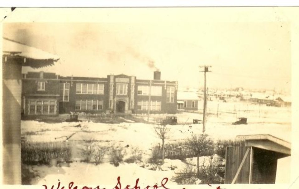 Photo -  Wilson Elementary School, 501 NW 21, in the early 1920s. It opened Sept. 15, 1919. [PHOTO PROVIDED]
