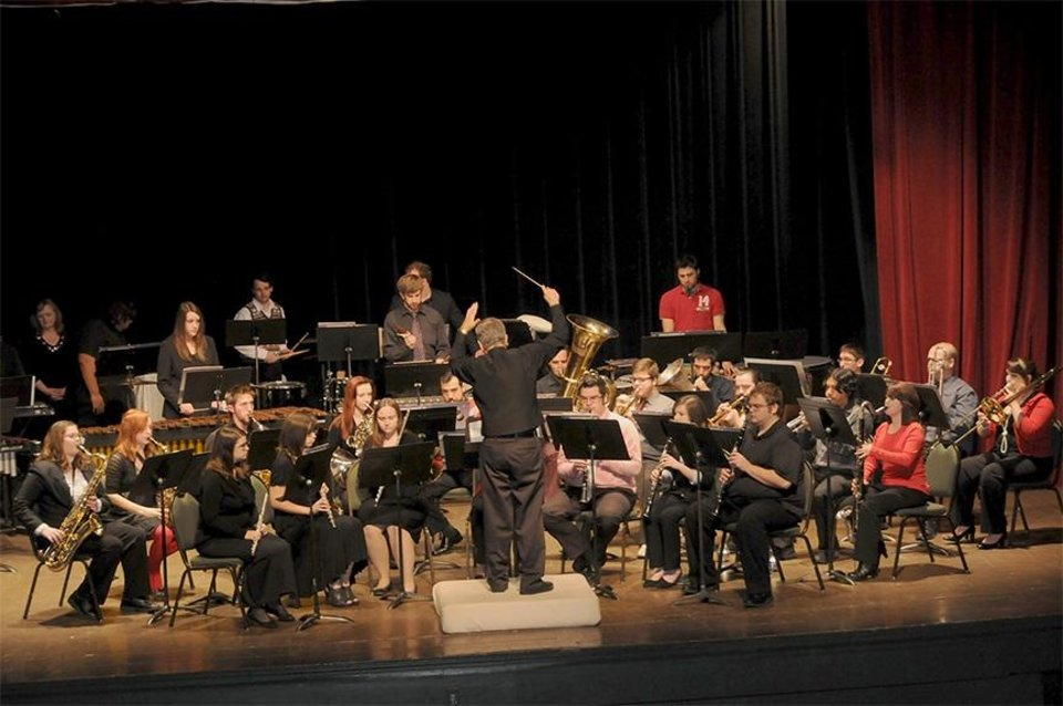 "Photo - The University of Science and Arts of Oklahoma Concert Band will host its fall concert, ""Marching Songs,"" at 7:30 tonight in the Chickasha High School Auditorium. [Photo provided]"