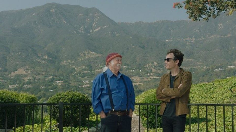 Photo - David Crosby, left, and Jakob Dylan appear in