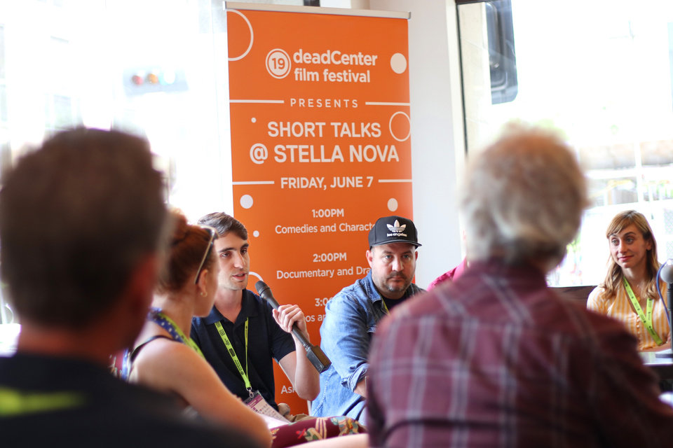 Photo - The first-ever, Short Talks@Stella Nova, are a series of short discussions by filmmakers from deadCenter Film Festival, Friday, June 7, 2019. [Doug Hoke/The Oklahoman]
