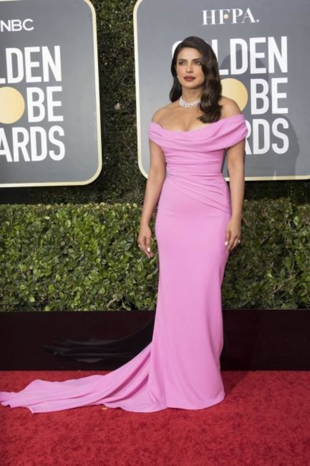 Photo -  Priyanka Chopra attends the 77th Annual Golden Globe Awards on Jan. 5 at Hotel Beverly Hilton in Beverly Hills, Los Angeles.  [Hubert Boesl/picture-alliance/dpa/AP Images]