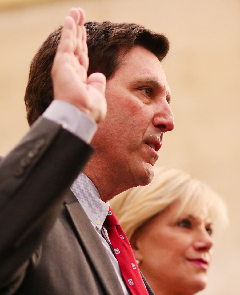Photo -  during swearing in ceremony for the Oklahoma City Council, Tuesday, April 9, 2019.  Photo by Doug Hoke/The Oklahoman